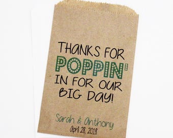 Wedding Favor Bags, Popcorn Bags, Candy Bags