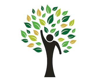 Clip Art to Print or Web, People Tree - Concept for Hope, Commitment, Faith, Compromise, Love, Nature, Illustration Logo Graphic