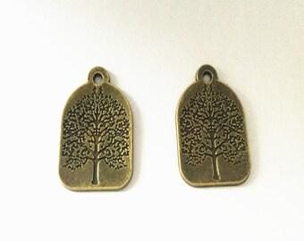 12pcs Antique bronze Tree Pendant charm 22mmx32mm