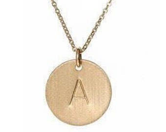 Gold letter necklace | Gold initial necklace | Letter Charm Necklace | Initial