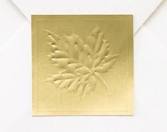50 Fall Maple Leaf Stickers, Gold Foil Maple Leaf Wedding Stickers, Fall Wedding Stickers Gold Foil Maple Leaf, Autumn Wedding