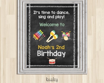Music Birthday Welcome Poster, Music Party, Music Party Poster, Music Birthday Party, Kids Music Jam, *DIGITAL*