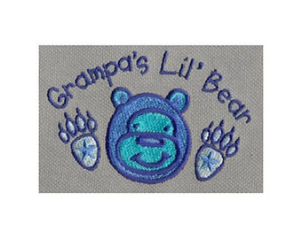 Grampa's Lil' Bear Embroidery Design - Instant Digital Download