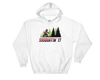 Bigfoot, Tourist, Vacation Shirt, Sasquatch, Hooded Sweatshirt, Pullover Hoodie