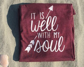 It is Well with My Soul Short-sleeve Triblend UNISEX T-shirt