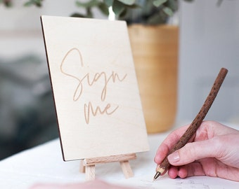 Simple Wedding Guest Book Sign - Guest Book Signage - Wedding Signs - Wedding Decor  - Rustic Wedding Decor - Shabby Chic Decor - Vintage