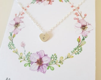 Personalised flower girl necklace, flower girl gift, thank you gift, initial necklace, junior bridesmaid gift, flower girl jewellery