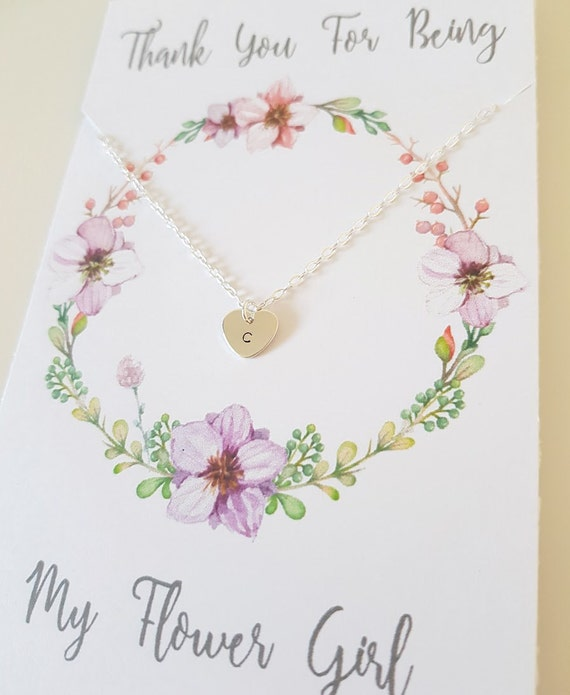 Personalised flower girl necklace