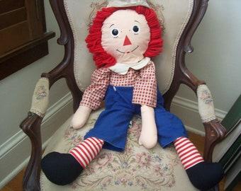 Large vintage Raggedy Andy doll- Knickerbocker
