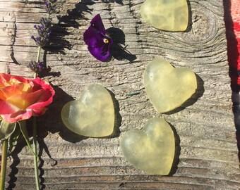 Sweet almond orange heart soaps