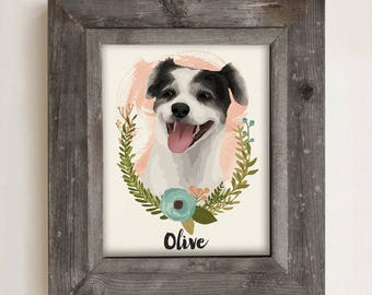 Dog Portrait •Custom Pet Memorial Gift •Pet Loss Gift • Custom Dog Illustration • Cat Portrait Illustration • Personalized Pet Drawing