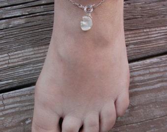 White Anklet, Wedding Anklet,  Anklets for Women, Bridal Anklet, Pearl Anklet, Beach Wedding, Pearl Anklet, White Anklet, BEACH