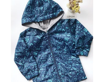 Chaqueta bebe. chaqueta manga larga. Cape de pluie imperméable avec capuche. rain jacket. chaqueta para lluvia. baby jacket. impermeable