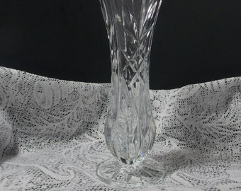 Lead Crystal Vase,  8 inches tall,  Clear vase,  beautifully cut