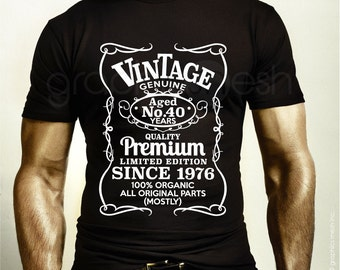VINTAGE AGED PERSONALIZED T-shirt - Age & Birthday year gift Tee