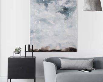 Landscape painting Large abstract landscape art Abstract painting Large original painting on canvas Abstract art Horizon painting Minimalist