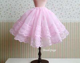 1:6 Scale Doll Fashion wear - Pink Sweet Lace Skirt Cancan Petticoat Lolita Accessories for Blythe Pullip Barbie BJD Momoko Monster High