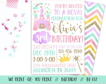Princess invitations etsy princess invitation princess birthday invitation princess party invitation royal birthday invitation princess 1st birthday filmwisefo