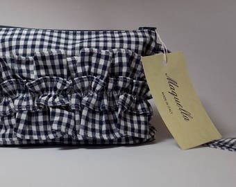 Elegant Vichy Cotton Pochette