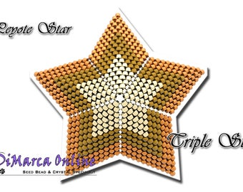 Beading Pattern/Tutorial Triple 3D PEYOTE STAR + Basic Instructions