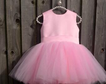 Flower Girl Dress, Pink Flower Girl Dress, Pageant Dress, First Birthday Dress For Girls, Tutu Dress, Tulle Dress for Girls, Wedding Dress