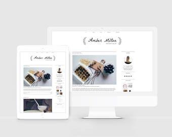 Premade Blog Template — Sleek Blog Design — Responsive Blogger Template — Simple Blog — Minimalist Blogger Theme — Lifestyle Blogger / Amber