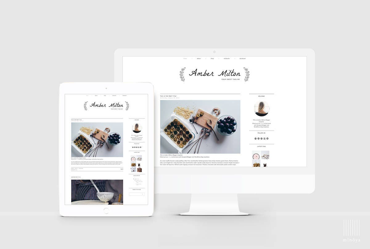 Fantastisch Leere Blogger Vorlage Zeitgenössisch - Beispiel Business ...
