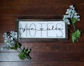 Last Name Sign | Last Name Est Sign | Custom Name Sign| Personalized Sign | Wedding Gift | Wedding Shower gift |Shower Gift|Sign for Wedding
