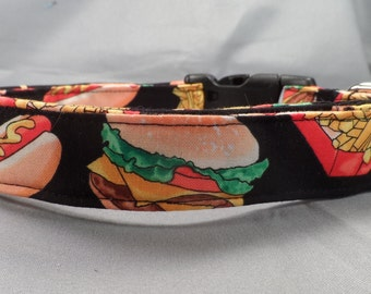 Dog Collar, Burgers Dogs and Fries Dog Collar