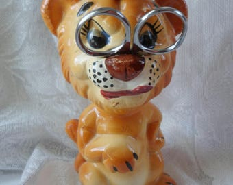 Vintage King Lion Sewing Caddy Pin Cushion Tape Measure