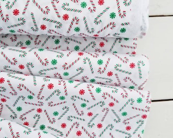 Joy - Candy Canes(White Background) - Bread and Butter - Windham Fabric