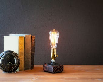 Edison Lamp Rustic Home Decor Steampunk Lamp Unique Table Lamp Industrial  Lighting