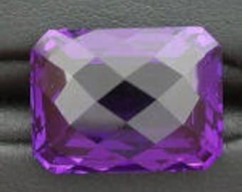 14x12 rich purple amethyst color checkerboard  quartz