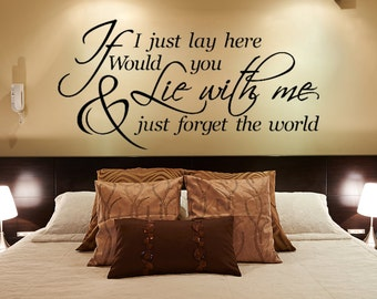Bedroom Wall Decal - Master Bedroom Wall Decal - If I Lay Here Wall Decal - Inspirational Quote - Vinyl Wall Decal - Wall Quote