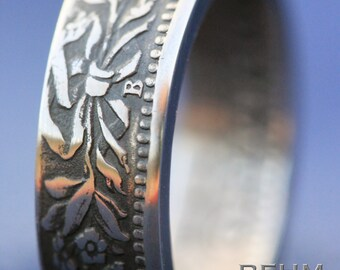 Cupro-Nickel Handcrafted Coin Ring - 1951 Swiss 20 Rappen - SIZE 6.5  - Can Re-size!!