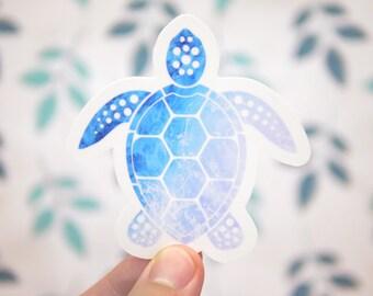 Sea Turtle Sticker - Wildlife Sticker - Snorkeling Stickers - Beach Stickers - Animal Stickers - S151
