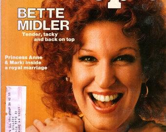 Bette Midler People Magazine June 30, 1975