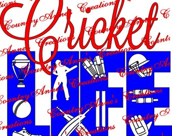 "SVG PNG DXF Eps Ai Wpc Cut file for Silhouette, Cricut, Pazzles, ScanNCut  -""Cricket Life""  svg"