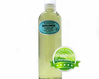 12 Oz Safflower Oil 100% Pure Organic  Cold Pressed
