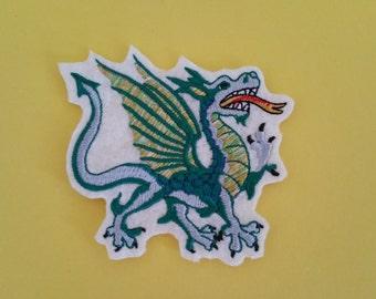 Fantastic dragon iron on or sew on applique Dragon embroidery applique Dragon patch Dragon applique Iron on dragon patch