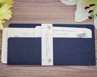 Boarding pass invitation, Destination invitation, boarding pass wedding invitation, Travel Invitation, Boarding pass invitation,  handmade