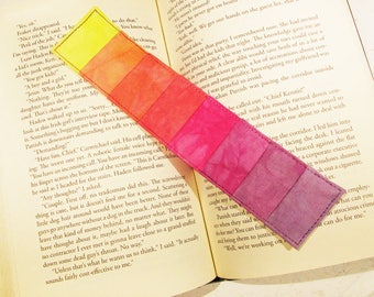 Quilted Bookmark Pastel Rainbow Stripes