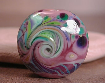 Lampwork Focal Bead, Lampwork Art Glass, Purple Lampwork, Divine Spark Designs, SRA