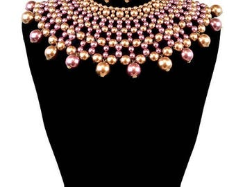 Large Pearl Bib Necklace