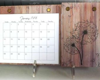 2018 - 2019 Dandelion Desk Calendar Hub with Notes and Weekly To Do Sections,  2 Year, Refillable, Adjustable Easel Stand