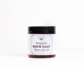 Soothing Lavender & Sea Salt - Bath Salt Soak - Gift for her