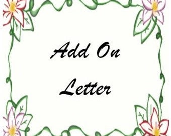 Add On Letter