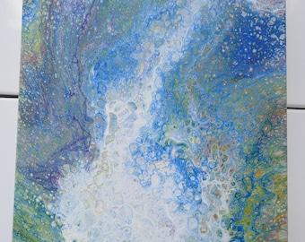 Acrylic Pour on Deep Canvas