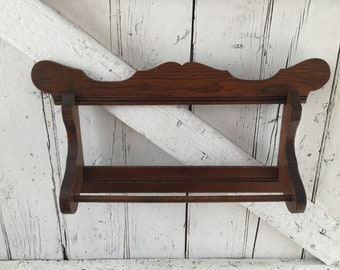 Antique Wooden towel rail towel Rack Wall hanging