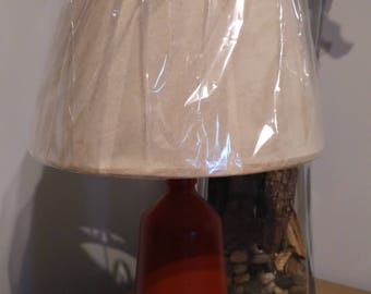 glass lamp, bottle lamp, handcraft lamp, desk lamp